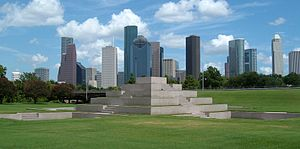 Houston Police Officer's Memorial - Western view of the memorial