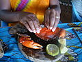 How to eat a crab down at the kenyan coast.JPG