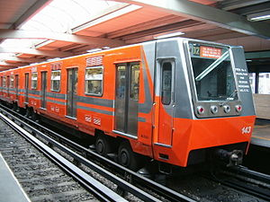 Concarril - Rubber-tired Mexico City subway train of type NM-73, built by Concarril