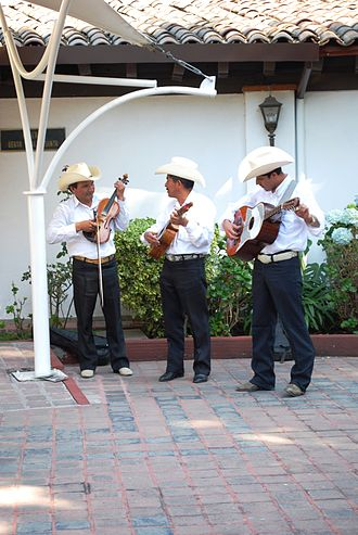 Music of Mexico - Son Huasteca trio at the Alfredo Guati Rojo National Watercolor Museum in Mexico City