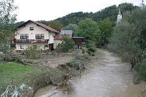 Hudinja (river) - Hudinja in Vojnik