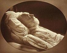 Hugo sul letto di morte, fotografato da Nadar (1820-1910)