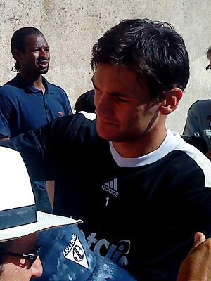 Hugo Lloris - Lloris signing autographs in 2010