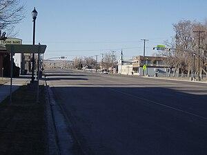 Huntington, Utah - Looking northward along Huntington's Main Street