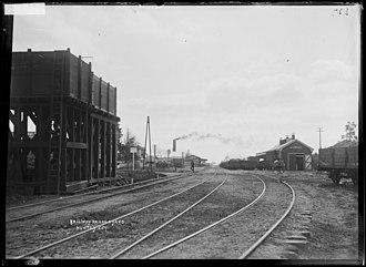Huntly railway station, Waikato - Huntly about 1910