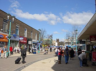 Huyton - Image: Huyton Town Centre geograph.org.uk 149891