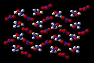 Hydroxylammonium nitrate - Image: Hydroxylammonium nitrate 3D balls