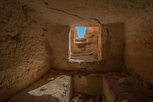 This is a Punic tomb in Sedouikch in Djerba, this is the inside of a tomb and IMHO this is featurable because this show how a punic dead see the world