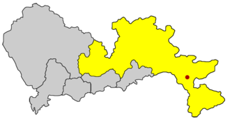 Dapeng Subdistrict - Location of Dapeng within the Longgang District within Shenzhen