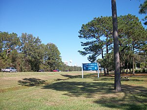 Interstate 95 in South Carolina - A welcome sign at the Jasper County Welcome Center