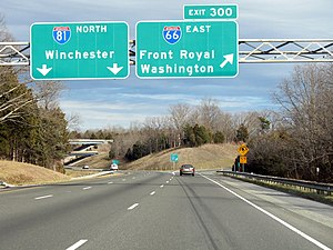 Interstate 66 - Image: I81 66E