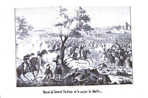 Battle of Maella - The death of General Pardiñas in the Battle of Maella