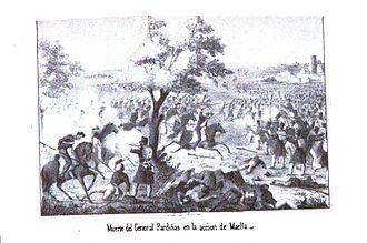 Battle of Maella - The death of General Pardiñas in the Battle of Maella
