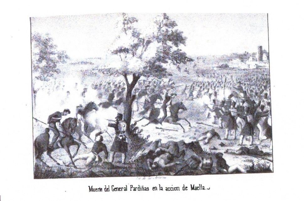 III.3 Muerte del General Pardiñas en la acción de Maella