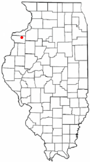 Matherville, Illinois - Image: IL Map doton Matherville