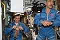 ISS-48 Kathleen Rubins and Anatoli Ivanishin in the Zvezda Service Module.jpg