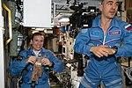 ISS-48 Kathleen Rubins and Anatoli Ivanishin in the Zvezda Service Module.jpg