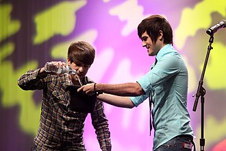 Smosh - Hecox (left) and Padilla (right) performing at Vidcon 2012