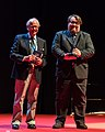 Ian Stewart and Jukka Halme at the Hugo Awards Ceremony 2017 at Worldcon in Helsinki.jpg