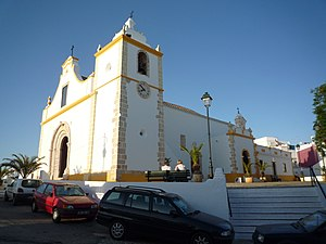 Alvor (Portimão) - The Church of the Divine Saviour, a Manueline and Rococo era parochial church constructed in the 16th century