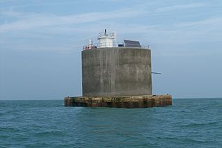 Nab Tower Anti-submarine tower off the Isle of Wight, England