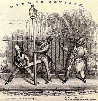 St. John's Park - A print from St. John's Park's time as a fashionable neighborhood