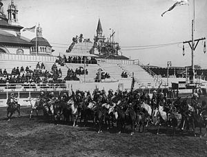 """Wild Westing - """"The Last Great Congress of the Red Man"""", Pan-American Exposition, Buffalo, New York, 1901."""