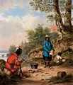 Indian Encampment, oil painting by Cornelius Krieghoff.jpg
