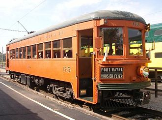 Lehigh Valley Transit Company - Car number 65, now preserved at the Illinois Railway Museum, was built for IR by Pullman in 1931.
