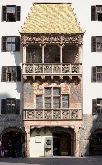 Tyrol (state) - Golden Roof, Innsbruck.