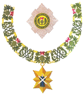 Order of the Thistle order of chivalry associated with Scotland
