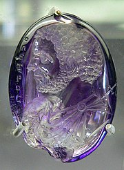 Roman Amethyst intaglio pendant, c. 212 CE; later converted to St. Peter medallion.