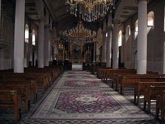 Armenian Patriarchate of Constantinople - Interior view of Holy Mother-of-God Patriarchal Church