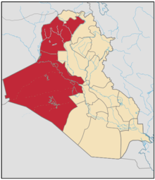 Location of Al Anbar and Nineveh Governorates within Iraq