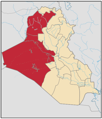 Operation al-Shabah - Image: Iraq Anbar Nineweh Province Map