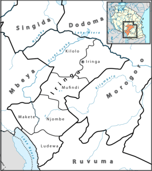 Ludewa District - Image: Iringa Regionen