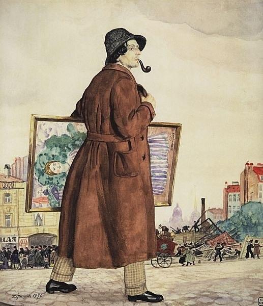 Isaak Brodsky by Kustodiev