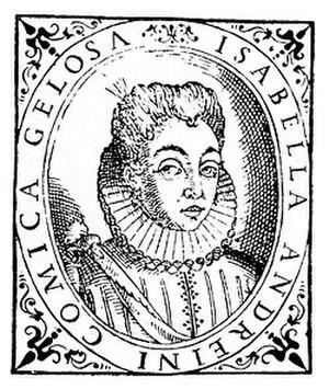 Isabella Andreini - Isabela Andreini. Print of 1588.