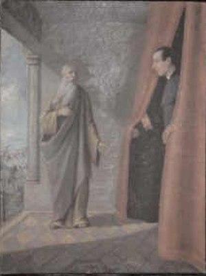 Ivan Grohar - Image: Ivan Grohar Srečanje župnika Eržena z Abrahamom