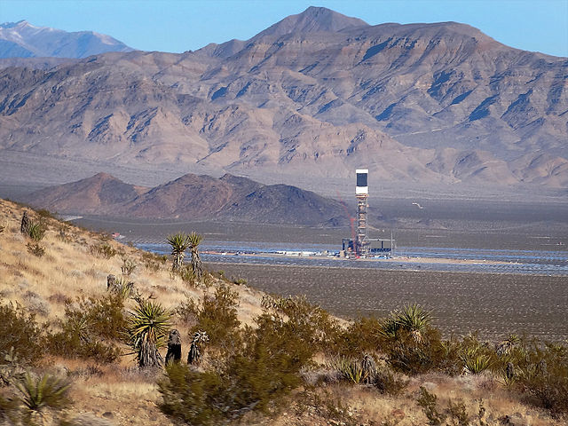 Ivanpah solar tower