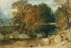 Ivybridge - The Ivy Bridge as painted by J. M. W. Turner in 1813.