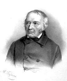 Józef Elsner um 1850, Lithographie von Maksymilian Fajans (Universitätsbibliothek der Kazimierz-Wielki-Universität Bydgoszcz) (Quelle: Wikimedia)