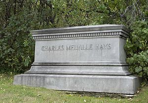 Charles Melville Hays - C.M. Hays' tombstone in Montreal