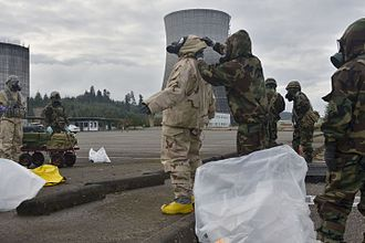 No. 26 Squadron RAF Regiment - Soldiers from the 11th Chemical Company train jointly with Airmen from No. 26 Squadron RAF Regiment in Washington State