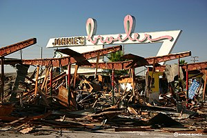 Johnie's Broiler - Johnie's Broiler after its demolition on Sunday, January 7, 2007.