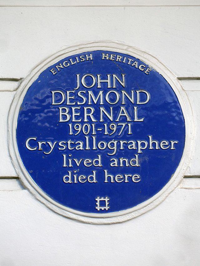 Photo of John Desmond Bernal blue plaque