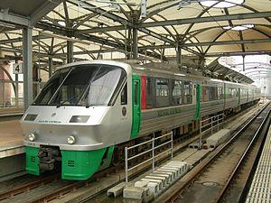 Midori (train) - 783 series train on a Midori service, January 2008