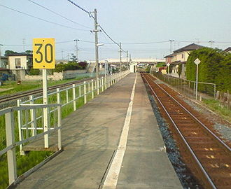 Naganawashiro Station - Image: JRE Naganawashiro Station Home