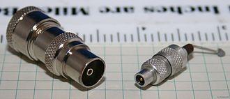 Belling-Lee connector - Regular and miniature Belling-Lee plugs.