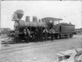 J class locomotive, NZR number 14, 2-6-0 type, and railway employees ATLIB 305529.png